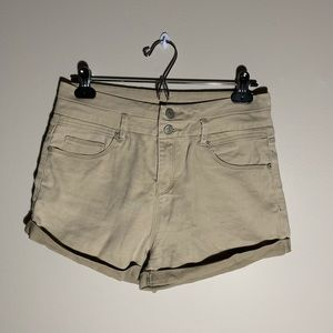 Ardene Beige double button shorts
